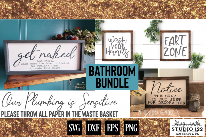 Funny Bathroom Sign Bundle