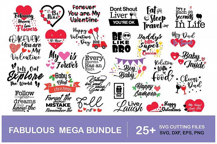 Fabulous Mega DXF, SVG, Craft Bundle II