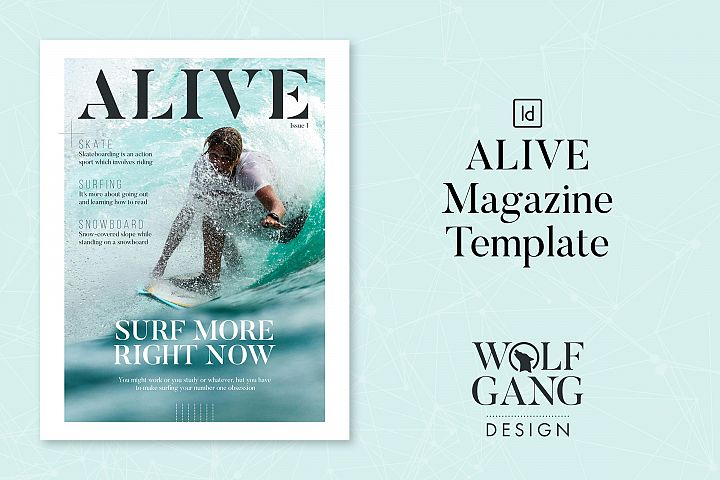 ALIVE Sports Magazine Template