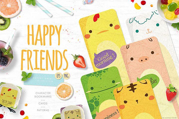 Happy Friends - cute animal