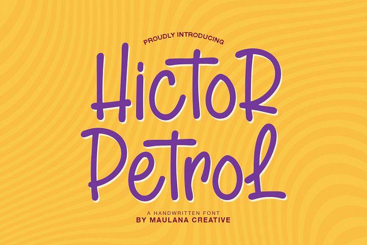 Hictor Petrol Handwritten Sans Serif Font