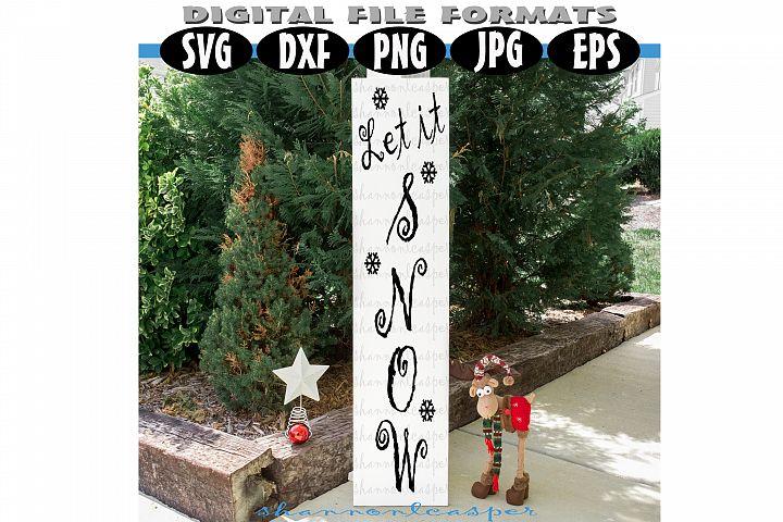 Christmas Porch Wood Sign SVG