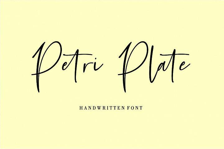 Petri Plate // Handwritten Font