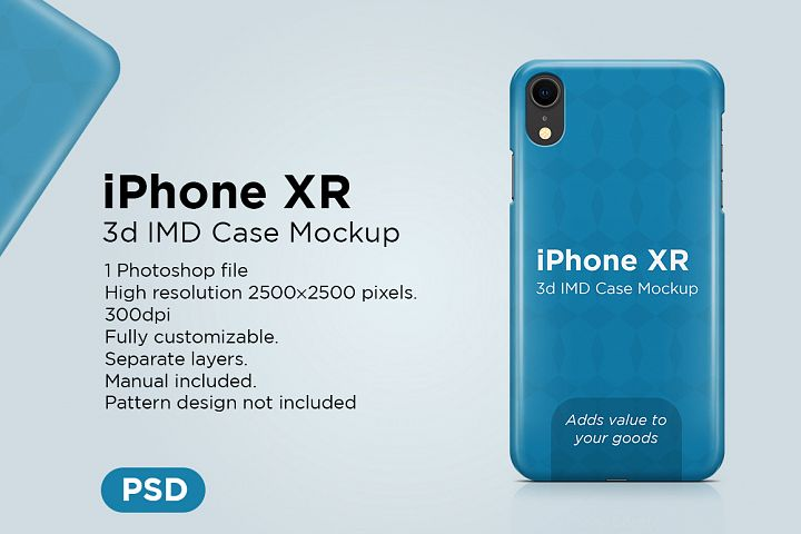 Apple iPhone XR 3d IMD Case Mockup