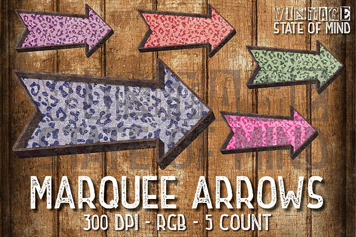 Marquee Arrows Sublimation Graphics