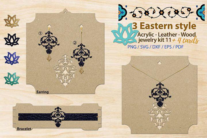 Eastern style acrylic leather wood jewelry kit 11