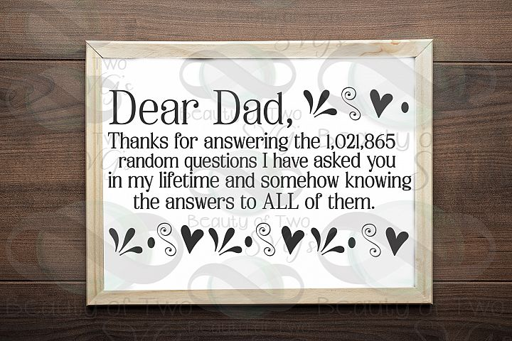 Fathers Day svg & png, Dear Dad svg, Dad love svg,