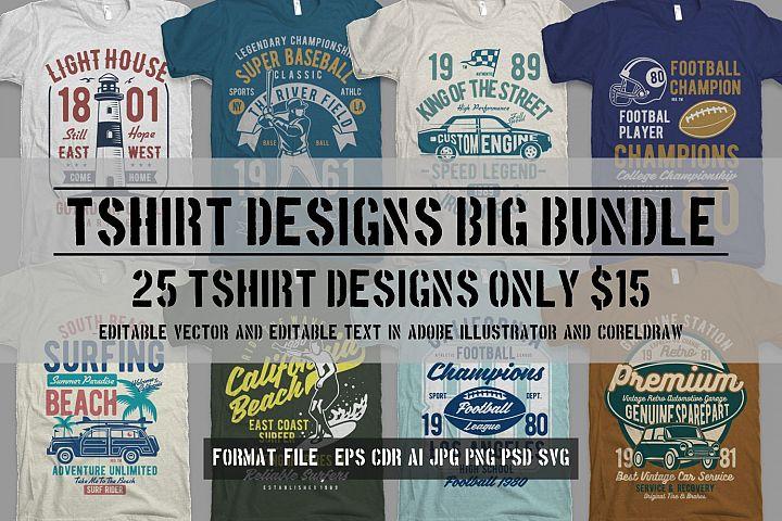 25 Premium Tshirt Designs Big Bundle 8