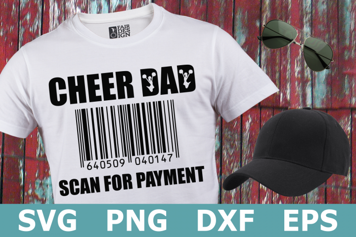 Cheer Dad Scan for Payment - A Sports SVG Cut File