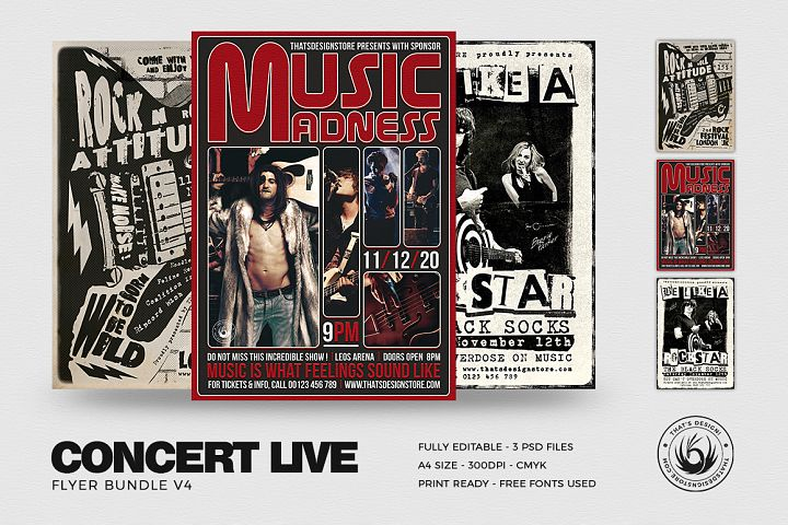 Concert Live Flyer Bundle V4