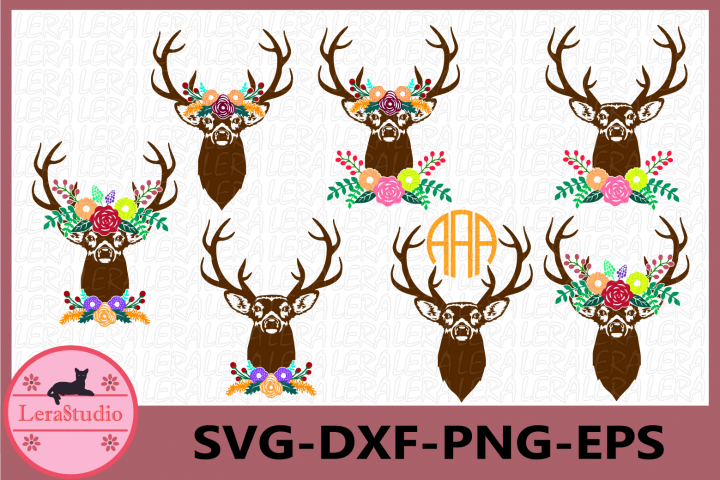 Fall SVG, Deer Antler Svg, Autumn SVG Files, Antler Flower