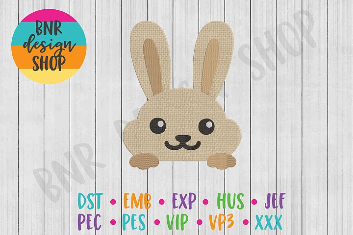 Bunny Pocket Topper Machine Embroidery Design