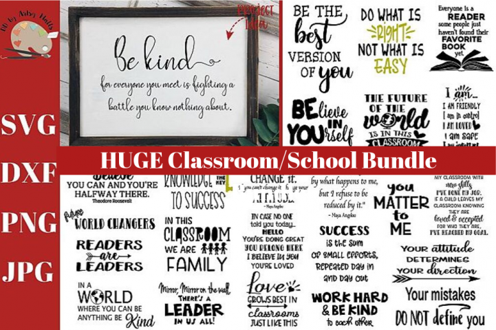HUGE Classroom Bundle svg dxf png, school teacher svg bundle