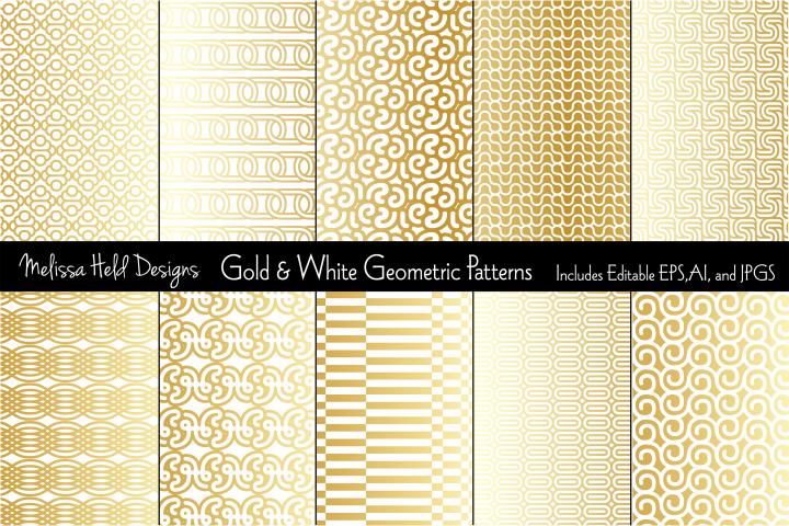 Gold & White Mod Geometrics