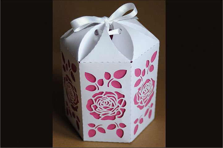 Box 9 Hexagonal single piece with interior color, SVG files