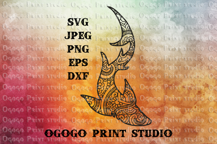 Shark SVG, Zentangle SVG, Nautical SVG, Mandala svg, Sea SVG