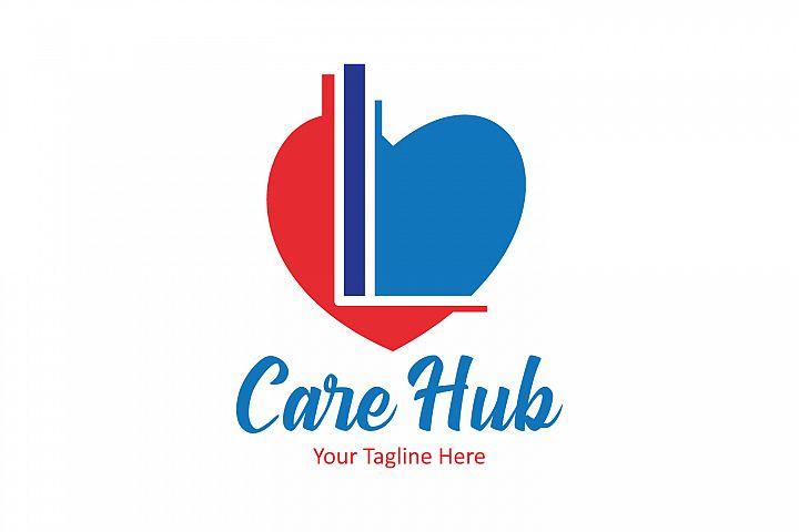 L letter heart logo