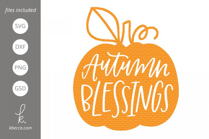 Autumn Blessings Pumpkin SVG Cut Files