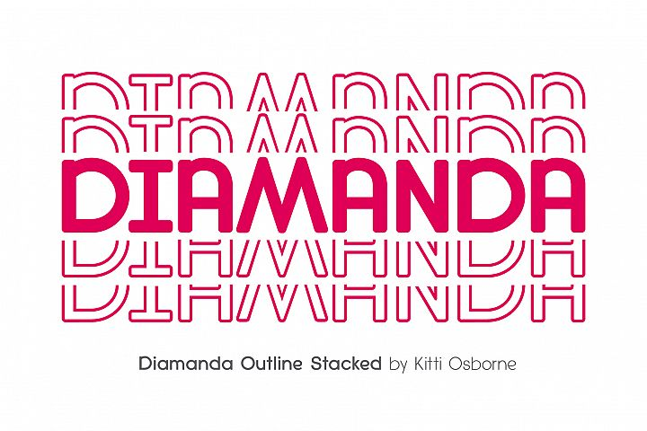 Diamanda Stacked Outline & Solid example image 6