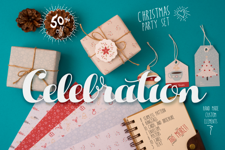 Christmas hand made celebration PACK
