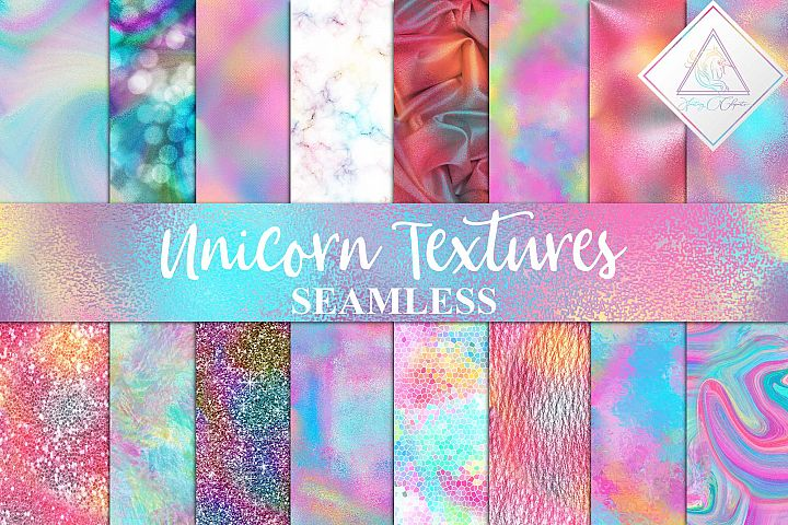Seamless Unicorn Textures Digital Paper