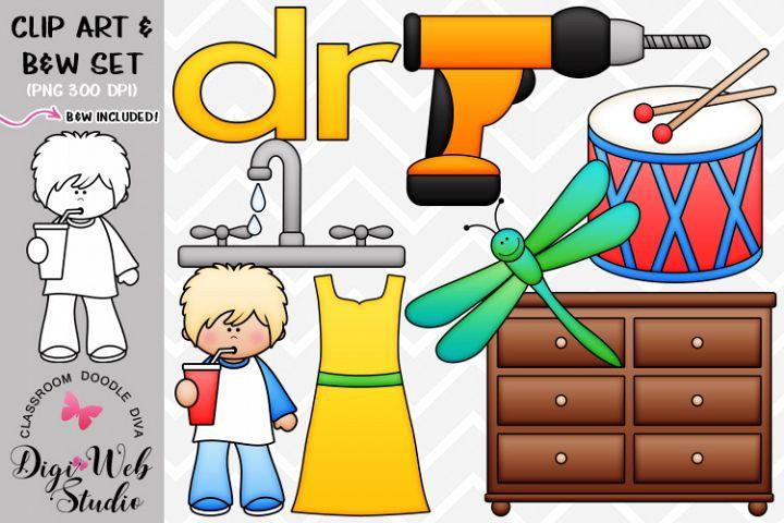 Clip Art / Illustrations - R Blends - dr Phonics