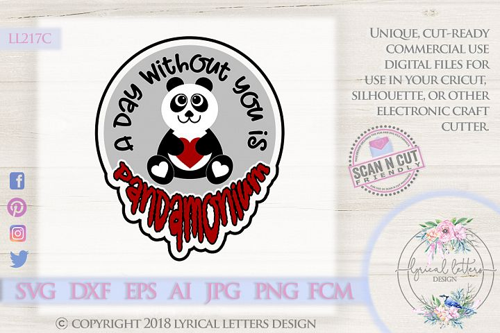 Panda Valentines Day SVG DXF FCM LL217C