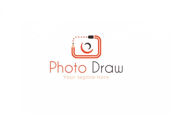 Photo Draw Simple Creative Stock Logo Design