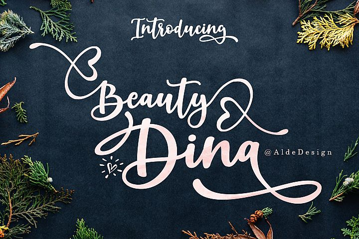 Beauty Dina | Beautiful Brush Script Font