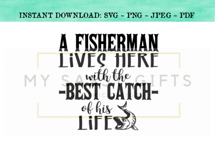 Funny Fishing Fish Lake House or Cabin Fisherman SVG Design