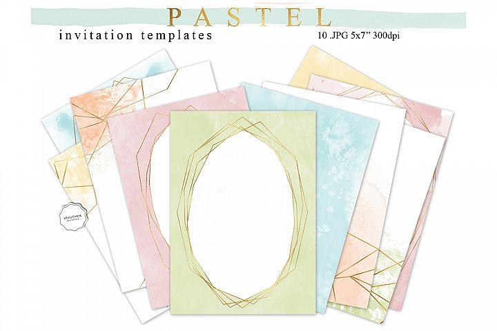 Pastel Watercolor Invitation Templates