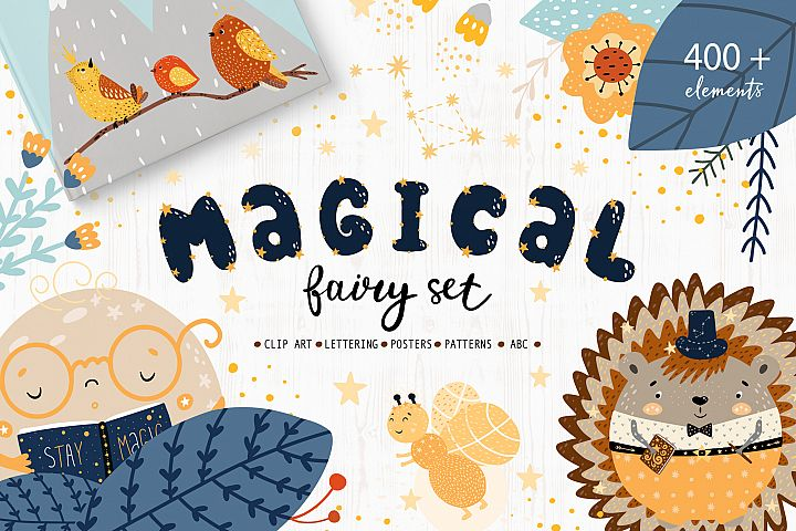Magical Fairy Set book creator