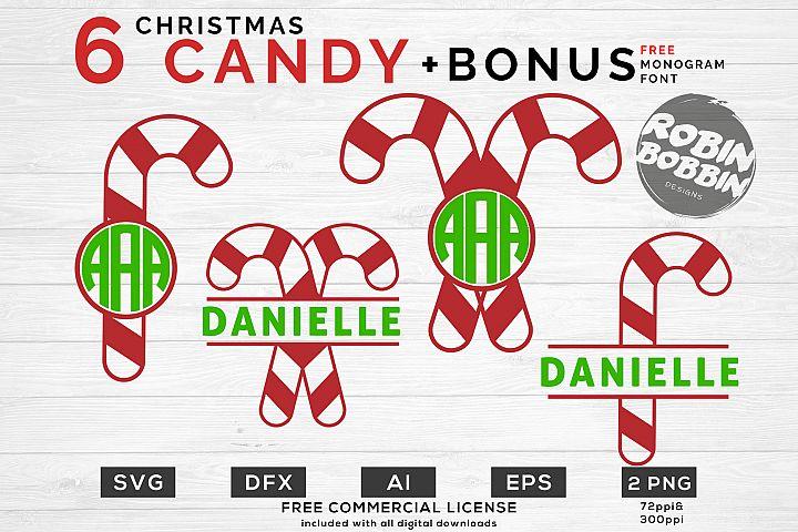 Christmas Candy SVG - Christmas Monogram SVG Bundle