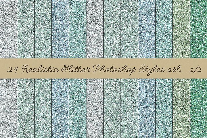 24 Realistic Glitter Photoshop Styles asl example 7