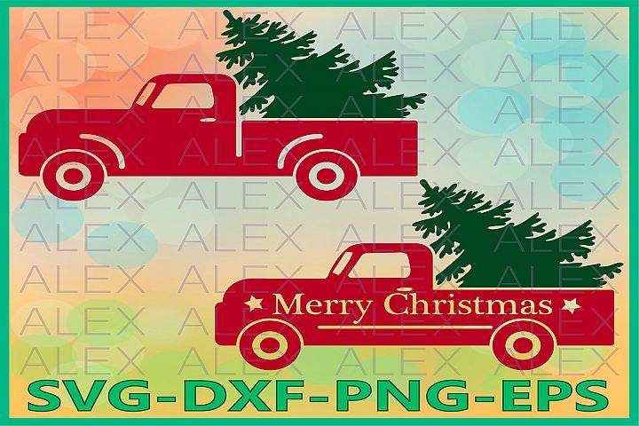 Christmas Truck SVG, Merry Christmas SVG, Tree Truck svg
