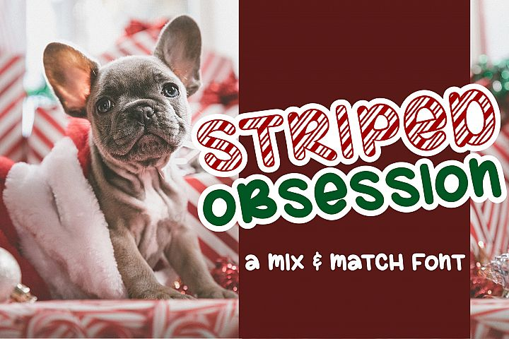 Striped Obsession - A Mix & Match Font