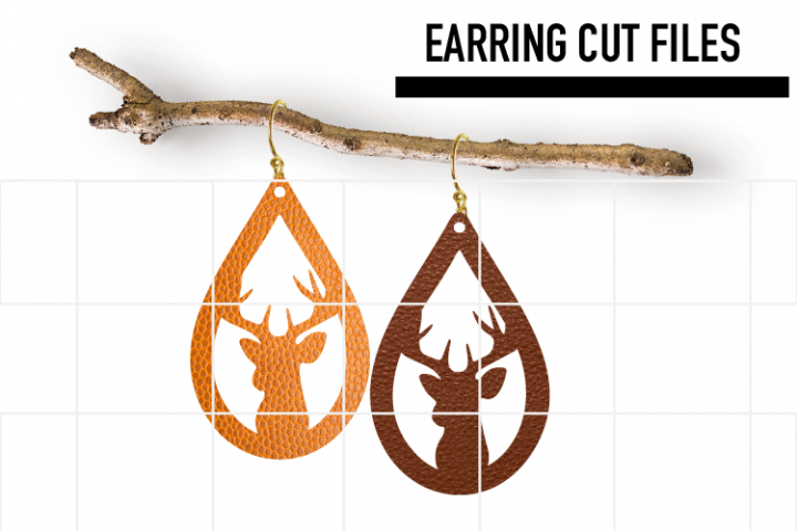 Christmas Earrings Svg, Deer Earrings Svg, Teardrop Svg