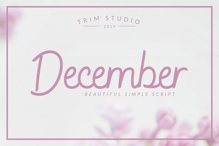 December - Sophisticated Monogram Font