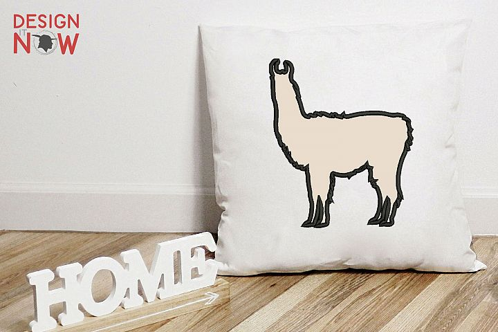 LLama Applique Design, Alpaca Embroidery Design, Digital Art