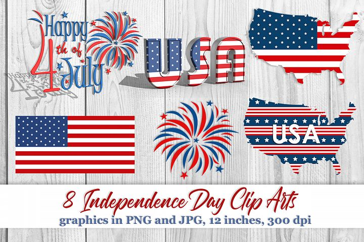 8 Independence Day Clip Arts Fourth of July Clip Arts