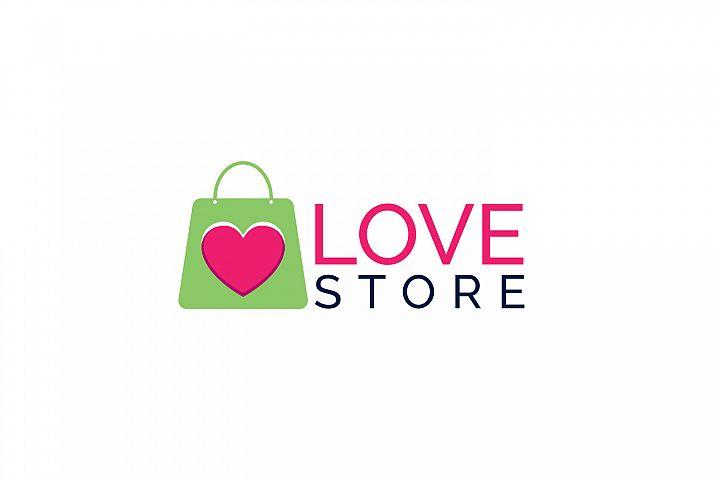 Love Store Logo Design.