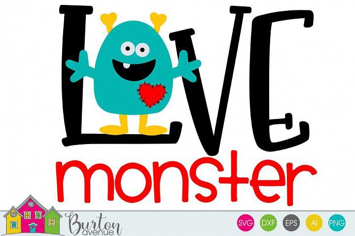 Love Monster Valentine SVG File