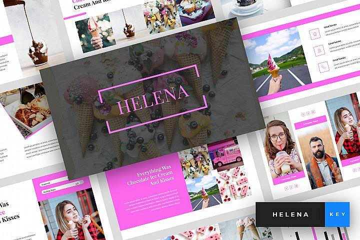Helena - Ice Cream Keynote Template