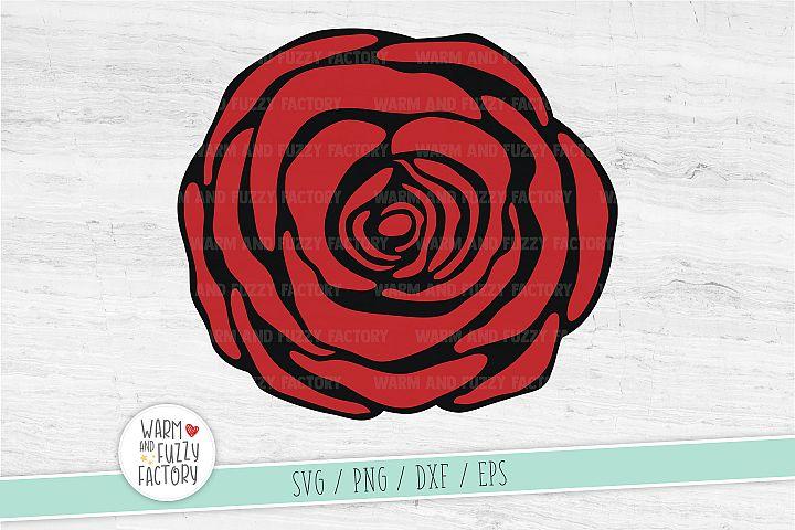 Rose svg, Rose flower cut file, Rose svg file, Flower svg
