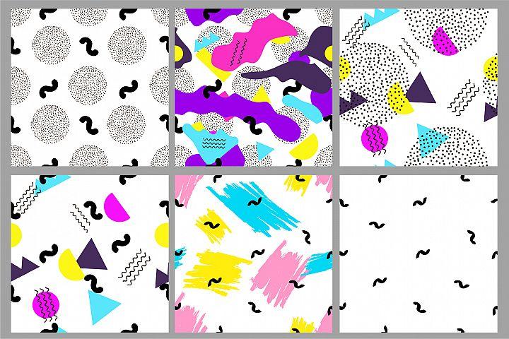 6 Geometric backgrounds. Seamless patterns
