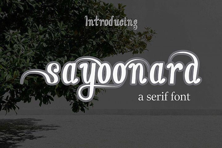 sayoonara