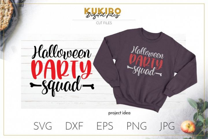 Halloween party squad SVG - Fall Cut file