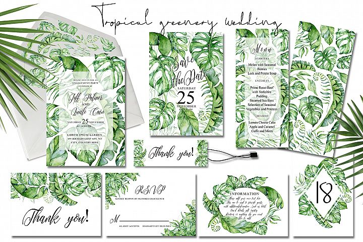 Tropical Greenery Wedding Suit