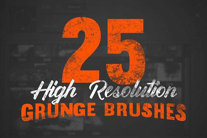 25 High Resolution Grunge Brushes