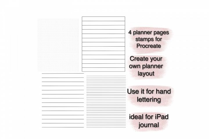 Procreate planner stamps, Hand lettering guides.